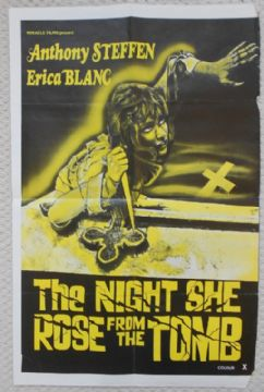 Night She Rose From the Tomb, Original UK Film Poster, Erica Blanc, Anthony Steffen, '71